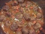 Receta de Albóndigas de pollo con salsa