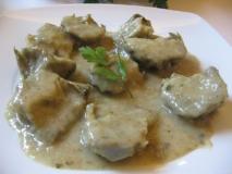 Alcachofas con cebolla
