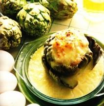 Alcachofas con huevos