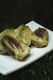 Alcachofas en vinagreta