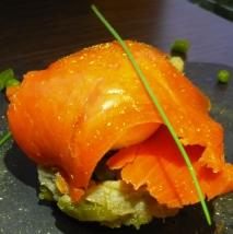 Alcachofas  rellenas de salmón en microondas