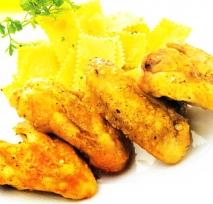 Receta de Alitas de pollo al curry con pasta