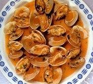 Almejas a la naranja