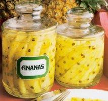 Receta de Ananas al marrasquino