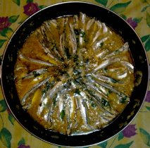 Anchoas al txakolí