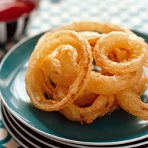 Aros de cebolla en tempura