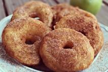 Aros de manzana de fritos