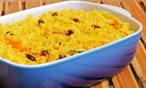 Receta de Arroz con pasas al curry