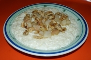 Arroz con peras y nueces