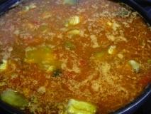 Arroz con rabo de ternera y verduras