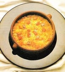 Arroz de jamón y queso