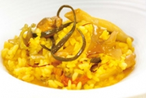Arroz meloso con frutos del mar