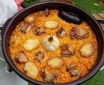 Arroz valenciano al horno
