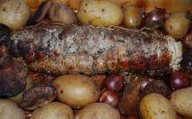 Asado de cerdo otoñal