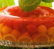 Aspic de melón y sandía