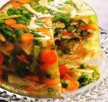Aspic de pollo y verduras