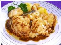 Bacalao con coliflor y patatas