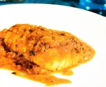 Bacalao con salsa de pimientos choriceros