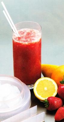 Batido de fresones y tomate