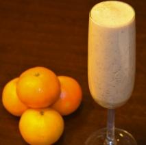 Batido de naranja y chocolate
