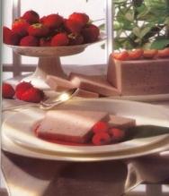 Bavaresa de fresones y yogur