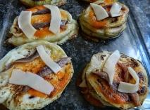 Berenjenas con queso y anchoas