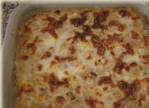 Berenjenas gratinadas a los tres quesos