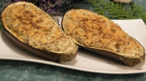 Berenjenas rellenas de queso