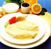 Receta de Besugo al horno a la crema de ajos