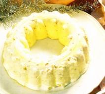 Biscuit glacé con praliné al coulis de grosella