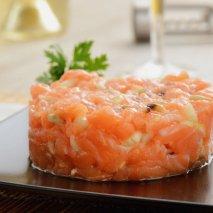 Receta de Bistec tártaro de salmón