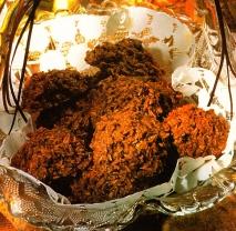 Bolas de coco al chocolate