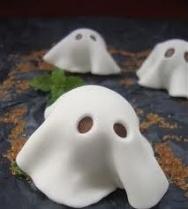 Bombones fantasmitas de Halloween