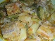 Receta de Bonito con salsa amarilla