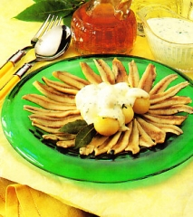 Boquerones escabechados con patatas