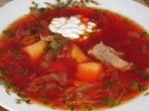 Borsch (sopa de col y remolacha)