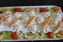 Receta de Brazo de gitano de marisco y pescado