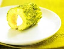 Receta de Brazo de gitano de pistachos, nata y cabello de ángel