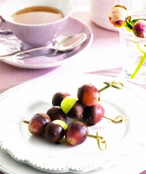 Receta de Brochetas de uva