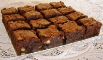 Brownie express en microondas