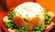 Budin de arroz con vegetales