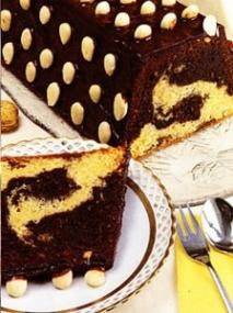 Receta de Cake blanco y negro