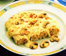Canelones de requesón y ternera