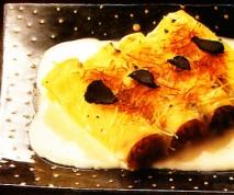 Canelones de setas con salsa de trufas