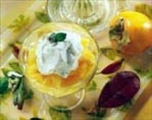 Caquis al licor de naranja