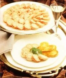 Caracolas de jamón y paté