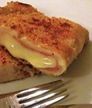 Carne con queso y jamón