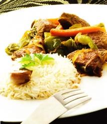 Receta de Carne salteada con verduras