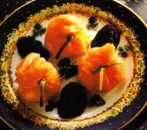 Caviar y salmón ahumado