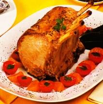 Cerdo asado al ron
